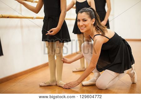 Beautiful Hispanic Dance Teacher At Work