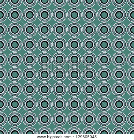Seamless pattern with abstract circular colored figures