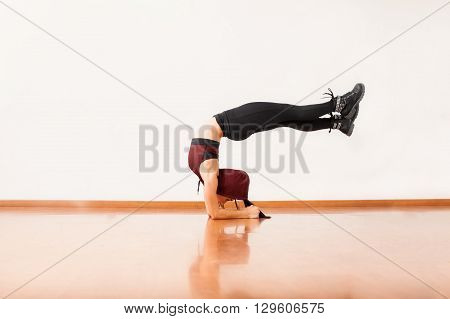 Athletic Female Dancer Arching Her Back