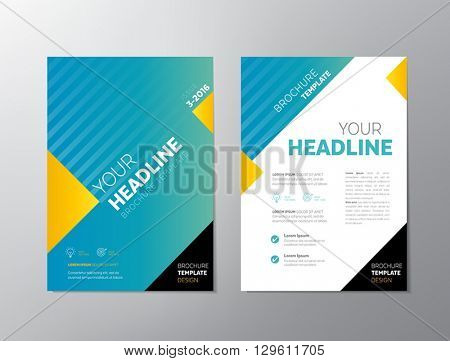 Brochure template design - can be used also as design for flyers, posters or any other printed or online graphic materials.
