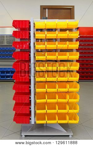 Storage Organizer Cart With Plastic Sorting Bins