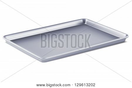 Serving tray isolated. 3D vector illustration .