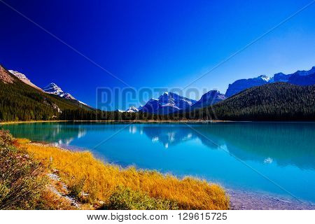 Sunwapta Lake, Jasper National Park In Alberta, Canada