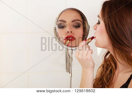 Young Girl Making Makeup