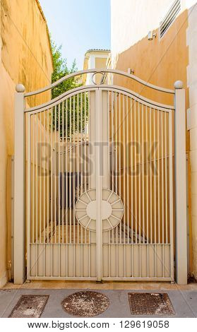 Vintage iron gates of a house in South of France - Aix-en Provence