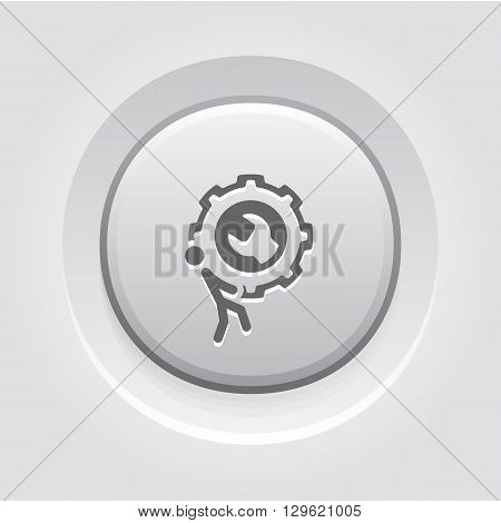 Maintanance and Repair Services Icon. Grey Button Design