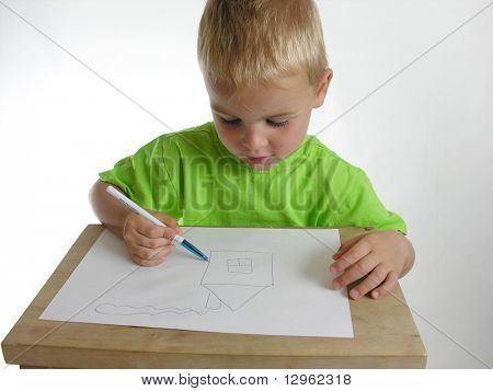 child draw home