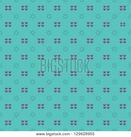 Vintage Hearts Seamless Pattern Vector Illustration. EPS 10