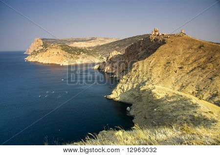 Coastline In Crimea, Balaklava, Ukraine