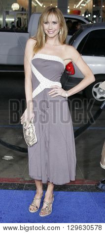 Ashley Jones at the Los Angeles premiere of 'Blades of Glory' held at the Mann's Chinese Theater in Hollywood, USA on March 28, 2007.