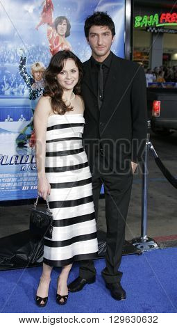 Sasha Cohen and Evan Lysacek at the Los Angeles premiere of 'Blades of Glory' held at the Mann's Chinese Theater in Hollywood, USA on March 28, 2007.
