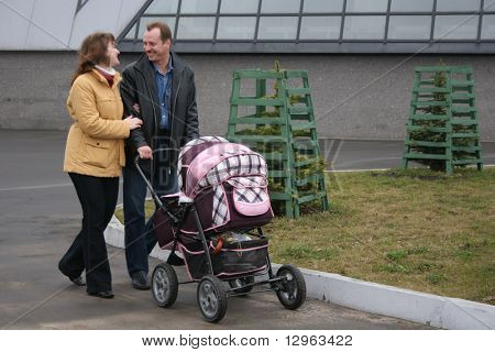 family with carriage