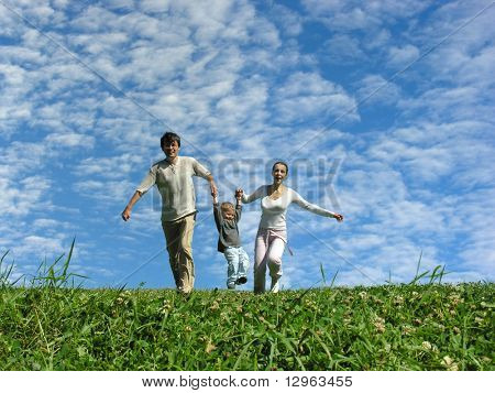 running family under cloudfield