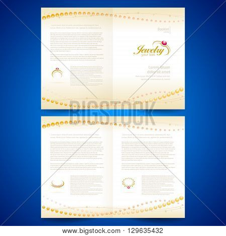 booklet catalog brochure folder jewelry bijouterie rings gold jewellery