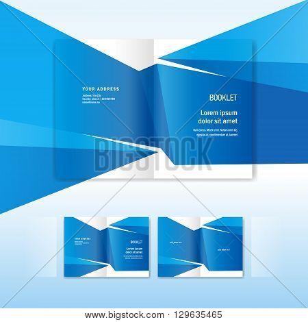 brochure folder leaflet geometric triangle abstract element polygonal