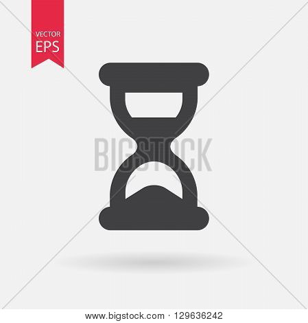 Hourglass icon vector.  Hourglass logo flat design style. Isolated on white background. Vector illustration.