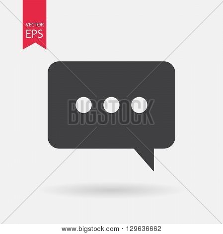 Message Icon Vector. Message sign isolated on white background.