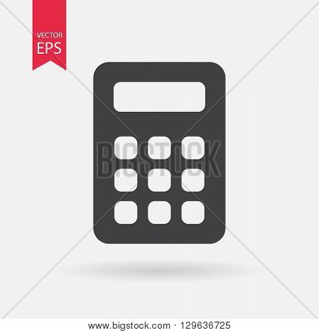 Calculator Icon Vector. Calculator sign isolated on white background.
