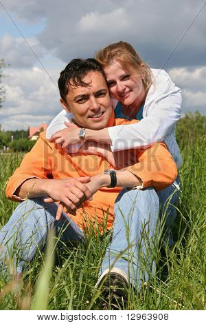 couple in grass