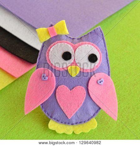 Soft toy felt owl, sewing, kids toy