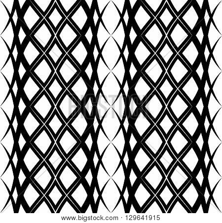 Arabic seamless pattern with wave. Traditional Middle Eastern design. Persian ornament. Abstract in islamic style. Texture for wallpaper wrapping fabric background apparel etc. Vector illustration