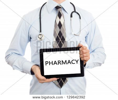 Doctor Holding Tablet - Pharmacy