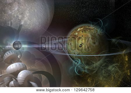 Planet With Rings