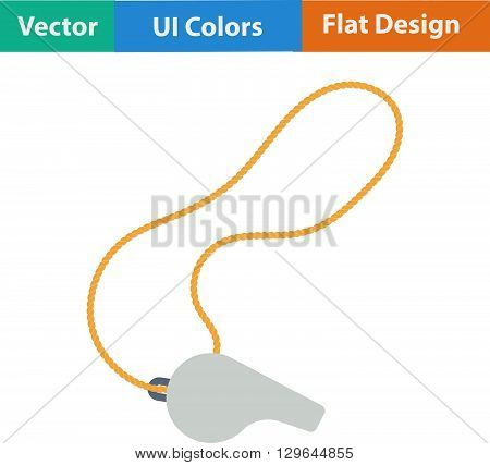 Flat Design Icon Of Whistle On Lace