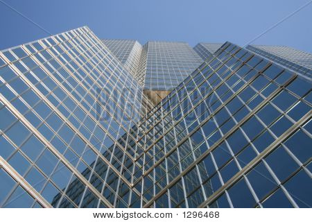 Blue Skyscraper From Base