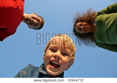 child with family from down