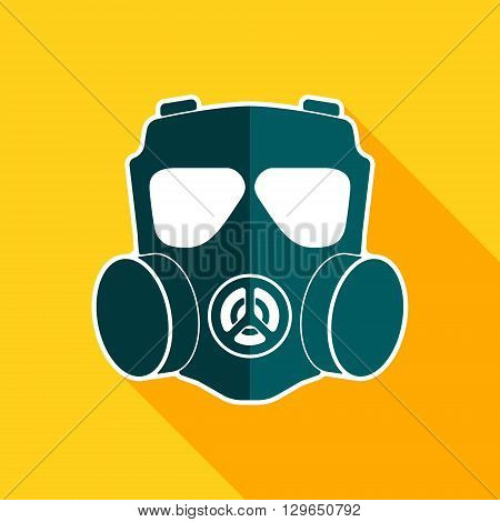 Gas mask flat icon. Chemical respirator symbol. Vector illustration