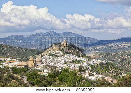 Village of Montefrio, Granada province, with its moorish fortress