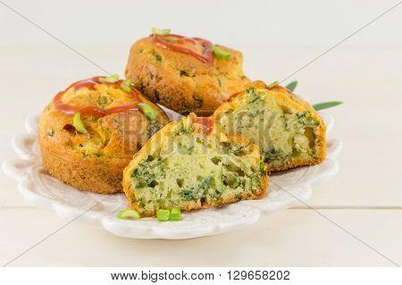 Corn Bread With Spinach