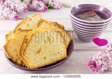 Homemade Fruit Bread With Tea