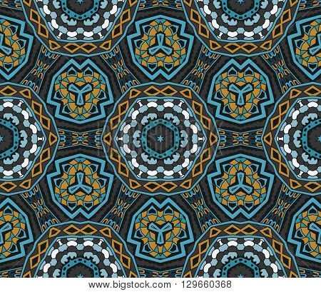 Abstract Tribal indian motif  vintage ethnic seamless pattern ornamental. Hand drawn doodle graphical motif