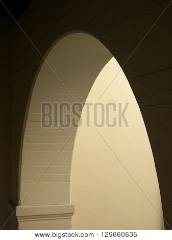 a picture of an exterior building arch doorway