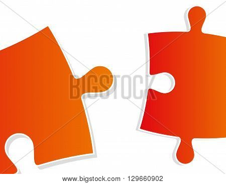 color gradient puzzle pieces close-up - vector illustration