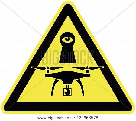 Drones are watching you. Beware of drones violating your privacy