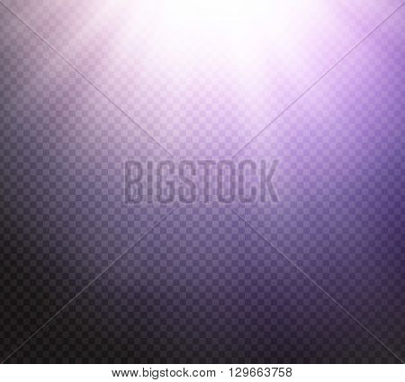 Sunlight or burst special light effect on transparent background. Glowing sun rays and toned radiance with transparency. Vector illustration
