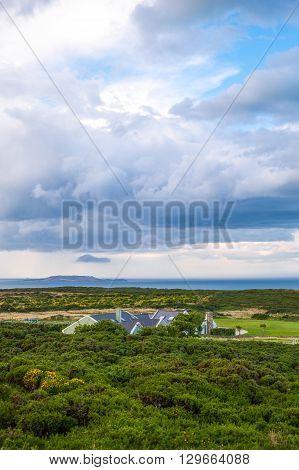 Ireland Dublin county landscape from the Howth headland