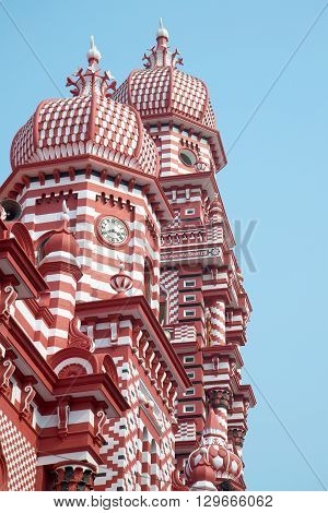 The dome of the mosque close-up. Colombo, Sri Lanka
