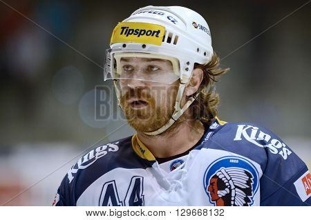 Pardubice 16/01/2015 _ Ryan Hollweg _ 38.round of highest Czech ice hockey league between HC CSOB Pojistovna Pardubice and HC Skoda Plzen