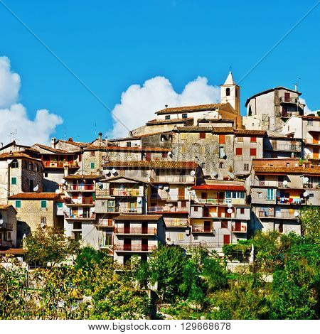 Many Satellite Dishes in the Medieval Italian City