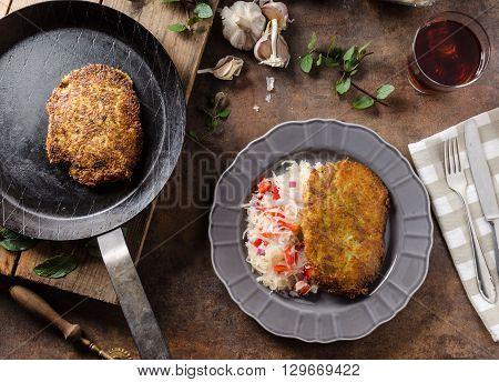 Potato Pancakes With Coleslaw
