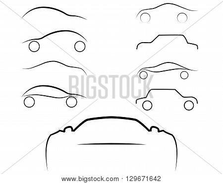 Cars logo set. Cars isolated. Transport logo. Auto sign.Vector Illustration, EPS 10