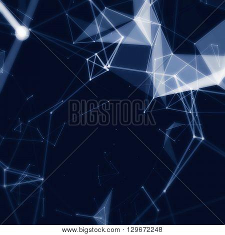 Abstract network data connection. Technology or scientific background