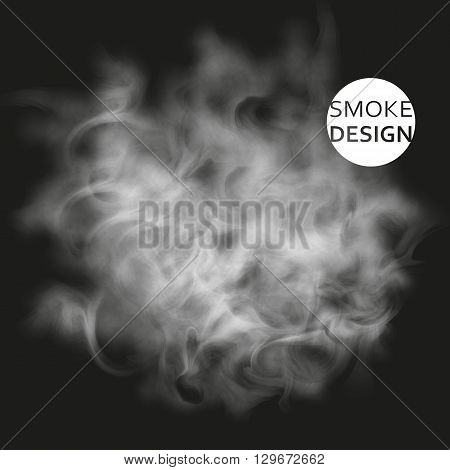 Abstract white smoke texture template. Steam, cloud realistic texture.