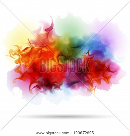 Abstract splash colorful smoke background. Realistic texture.