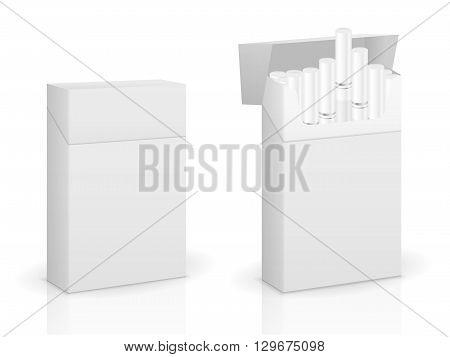 Cigarette box set on a white background.