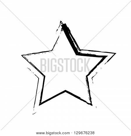 star patriot symbol grunge vector shape. Vector star. Black old figure star. Army and patriotism. Grunge star background